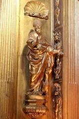Ancienne cathédrale, puis église paroissiale Saint-Véran - Français:   Statue de saint Véran en évêque dans la chapelle qui lui est consacré dans la cathédrale de Cavaillon