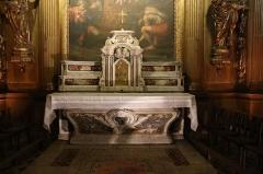 Ancienne cathédrale, puis église paroissiale Saint-Véran - Français:   Autel de la chapelle Saint-Véran