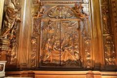 Ancienne cathédrale, puis église paroissiale Saint-Véran - Français:   Porte de reliquaire dans la chapelle Saint-Véran à l\'intérieur de  la cathédrale de Cavaillon,