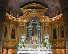 Ancienne cathédrale, puis église paroissiale Saint-Véran - Retable du maître-autel de l'ex-cathédrale St Véran de Cavaillon; les tableaux sont de Nicolas Mignard.