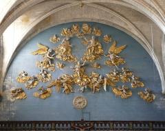 Eglise paroissiale Notre-Dame-des-Anges - Français:   L\'Isle-sur-la-Sorgue (Vaucluse, France), collégiale N.D. des Anges, Assomption en forme de gloire attribuée à Jean Péru.