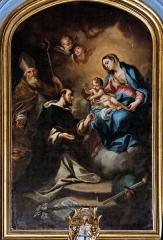 Eglise paroissiale Notre-Dame-des-Anges - Français:   Philippe Sauvan - La Vierge remettant le rosaire à St Dominique, collégiale Notre-Dame-des-Anges de l\'Isle-sur-la-Sorgue.