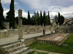 Site archéologique de la Villasse -  Vaucluse Vaison-La-Romaine Ruines Romaines Maison Mosaiques Atrium