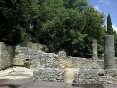 Site archéologique de la Villasse -  Vaucluse Vaison-La-Romaine Ruines Romaines Nymphee
