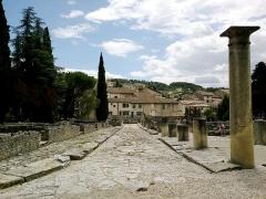 Site archéologique de la Villasse -  Vaucluse Vaison-La-Romaine Ruines Romaines Rue Centrale