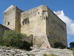 Château (ruines) et rocher qui les porte - Français:   Vaison-la-Romaine, ville du Vaucluse (France). Château des Comtes de Toulouse.