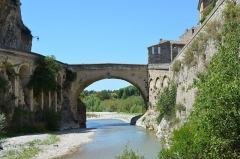 Pont romain -  The bridge was built by the Romans in the 1st century AD, with a single arch spanning 17.20 m. It is still in use, and has survived severe flooding that swept away some more recent bridges.