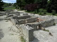 Terrains de fouilles gallo-romaines de la colline du Puymin (ensemble) -  Vaucluse Vaison-La-Romaine Ruines Romaines Maison Buste Bain