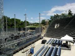 Théâtre romain -  Vaucluse Vaison-La-Romaine Ruines Romaines Theatre Cote Ouest Vue Est