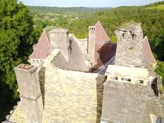 Château de la Faye - Français:   Toitures en lauzes