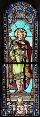 Eglise de la Décollation de Saint-Jean-Baptiste - Français:   Représentation de saint Henri, vitrail de l\'église de Fanlac, Dordogne, France.