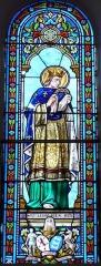Eglise de la Décollation de Saint-Jean-Baptiste - Français:   Représentation de saint Louis, œuvre d\'Henri-Louis-Victor-Gesta,  vitrail de l\'église, Fanlac, Dordogne, France.