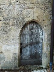 Eglise Saint-Martin - Français:   Porte de la chapelle nord de l\'église Saint-Martin, Limeuil, Dordogne, France.