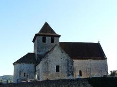 Eglise Saint-Martin - Français:   Le côté nord de l\'église Saint-Martin, Limeuil, Dordogne, France.