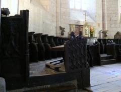 Eglise Saint-Dominique - Français:   Monpazier - Eglise Saint-Dominique - Stalles de l\'ancien choeur liturgique réalisées après 1506