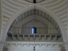 Eglise Saint-Pierre-ès-Liens - Français:   La tribune de l\'église Saint-Pierre-ès-Liens de Montignac, Dordogne, France.