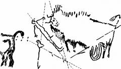Grotte de Lascaux - Deutsch:   Lascaux, Südfrankreich: Höhlenmalerei mit teilweise astronomischem Inhalt (ca. 20.000 Jahre alt, siehe jeweiligen Bildtext)