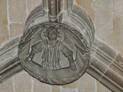 Couvent de Sainte-Marthe - Français:   Clé de voûte représentant l\'ange de saint Matthieu, chapelle Saint-Jean-Baptiste, Périgueux, Dordogne, France.