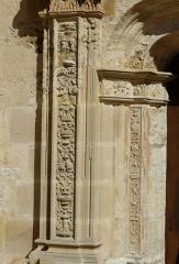 Eglise Saint-Germain de Rouffignac - Français:   Piédroit du portail Renaissance de l\'église Saint-Germain de Paris, Rouffignac-Saint-Cernin-de-Reilhac, Dordogne, France.