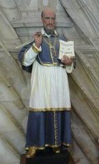 Eglise Saint-Germain de Rouffignac - Français:   Saint François de Sales, statue de l\'église Saint-Germain de Paris, Rouffignac-Saint-Cernin-de-Reilhac, Dordogne, France.