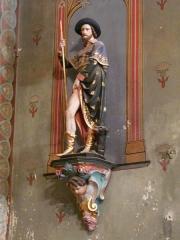 Eglise Saint-Germain de Rouffignac - Français:   Statue de saint Roch, église Saint-Germain de Paris, Rouffignac-Saint-Cernin-de-Reilhac, Dordogne, France.