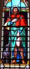 Eglise Saint-Germain de Rouffignac - Français:   Saint Roch, détail d\'un vitrail de l\'église Saint-Germain de Paris, Rouffignac-Saint-Cernin-de-Reilhac, Dordogne, France.