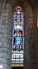 Eglise Saint-Germain de Rouffignac - Français:   Vitrail représentant saint Roch, église Saint-Germain de Paris, Rouffignac-Saint-Cernin-de-Reilhac, Dordogne, France.