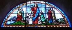 Eglise Saint-Germain de Rouffignac - Français:   «Laissez venir à moi les enfants», vitrail du chœur de l\'église Saint-Germain de Paris, Rouffignac-Saint-Cernin-de-Reilhac, Dordogne, France.