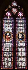 Eglise Saint-Germain de Rouffignac - Français:   Saint Lucas et saint Matthieu, vitraux de l\'église Saint-Germain de Paris, Rouffignac-Saint-Cernin-de-Reilhac, Dordogne, France.