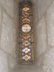 Eglise Sainte-Eulalie - Français:   Vitrail Sainte Eulalie à Saint-Aulaye