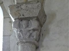 Eglise Sainte-Eulalie - Français:   Chapiteau de l\'église de Saint-Aulaye, Saint Aulaye-Puymangou, Dordogne, France.