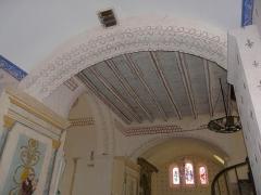 Eglise Saint-Ours - Français:   Le plafond de la croisée du transept, église Saint-Ours, Sainte-Orse, Dordogne, France