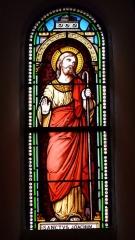 Eglise Saint-Ours - Français:   Vitrail du transept de l\'église Saint-Ours, Sainte-Orse, Dordogne, France. Représentation de saint Joachim.