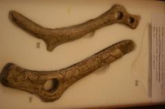 Gisement préhistorique de la Madeleine - English: Carved bones from the GLAM event at Franks House, British Museum