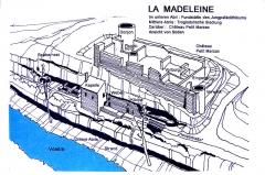 Gisement préhistorique de la Madeleine - Deutsch: La Madeleine, Ansicht von Süden
