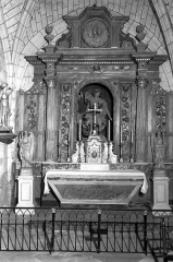 Eglise Notre-Dame de Bernos - Deutsch: Altar in der Kirche Notre-Dame  Bernos-Beaulac