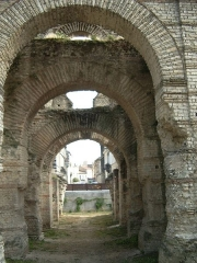 Restes de l'amphithéatre dit Palais Gallien -  Palais Galien, Roman amphitheatre in Bordeaux, France Copy from French Wikipedia: http://fr.wikipedia.org/wiki/Image:Galien3bdxjulbzh.JPG  Originally uploaded by