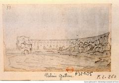 Restes de l'amphithéatre dit Palais Gallien - Dutch drawer