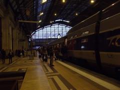 Gare de Bordeaux-Saint-Jean - Nederlands: Vertrek avonds van een TGV