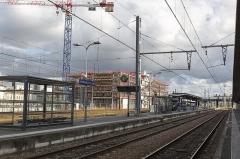 Gare de Bordeaux-Saint-Jean - English: Gare de Belcier et son parking en construction