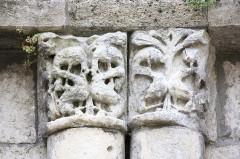 Eglise Notre-Dame - Français:   Guîtres - Ancienne abbatiale Notre-Dame Détail base transept Nord