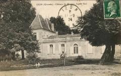 Château d'Anglade - Français:   Izon on post-cards