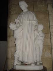 Eglise Saint-Pierre - English: La Réole (Gironde, Fr), statue of Don Bosco in the church