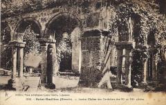 Ancien couvent des Cordeliers - Français:   Saint-Emilion sur carte-postale