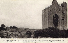Donjon fortifié, dit Château du Roi - Français:   Saint-Emilion sur carte-postale