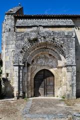 Ancienne église Saint-Martin de Mazerat - Français:   Portail de l\'église