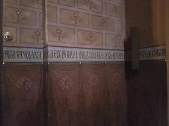 Ancienne cathédrale Saint-Jean-Baptiste - Prière Notre Père en ancien français sur les murs de la cathédrale d'Aire-sur-l'Adour (3/8)