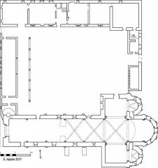 Ancien prieuré d'Arthous - Français:   Plan général de l\'abbaye Notre-Dame d\'Arthous