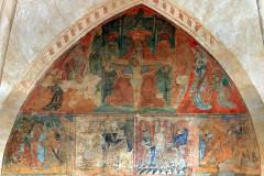 Ancienne église prieurale - Français:   Mimizan Clocher-porche Fresques