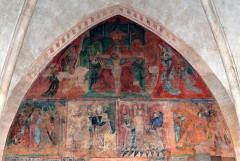 Ancienne église prieurale - Français:   Mimizan Clocher-porche Peintures murales